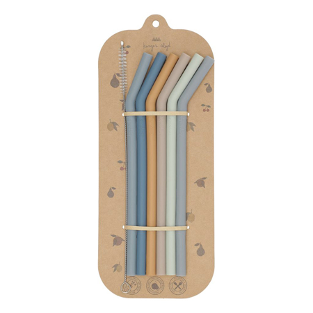 Picture of Konges Sløjd® Silicone Straws – Girl (6 pack)
