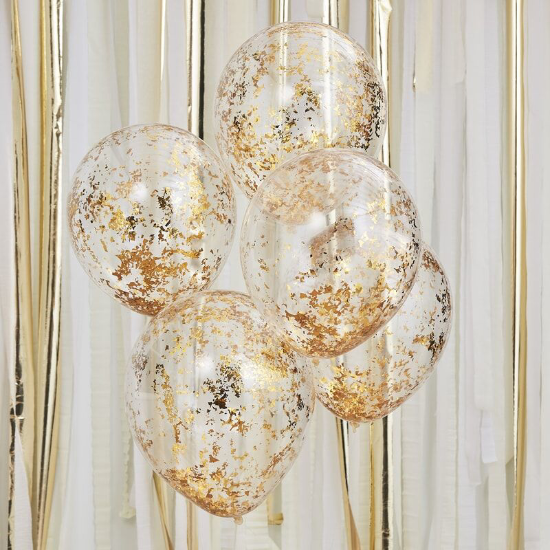 Picture of Ginger Ray® Gold Confetti Balloons