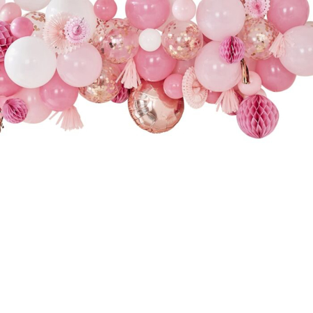 Ginger Ray® Blush & Peach Baloon and Fan gerland Party backdrop
