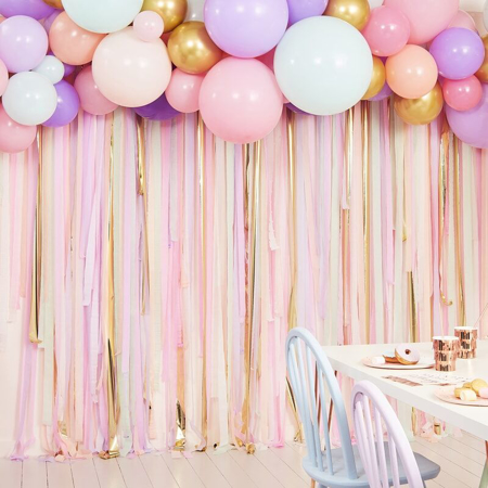 Picture of Ginger Ray® Pastel streamer and Baloon Backdrop Kit
