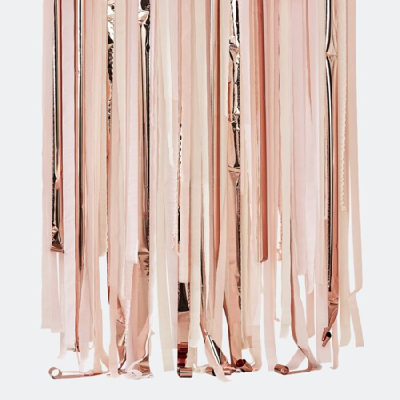 Picture of Ginger Ray® Pink & Rose Gold Party Streamer Backdrop