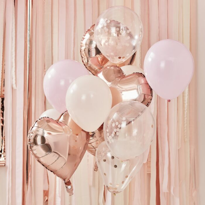 Picture of Ginger Ray® Blush & Rose Gold Balloons bundle