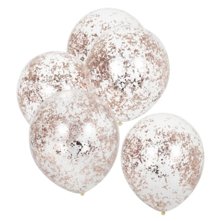 Ginger Ray® Rose Gold Confetti Balloons