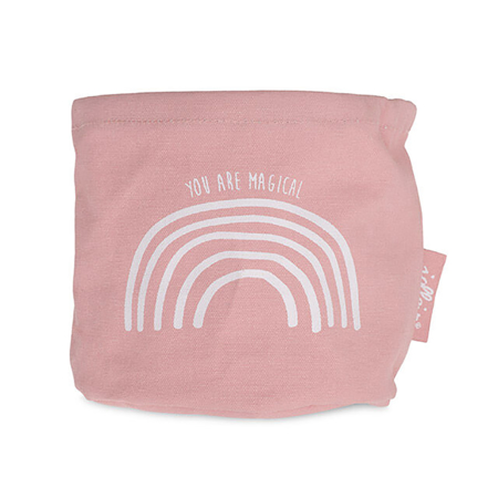 Picture of Jollein® Basket Canvas Rainbow Blush Pink