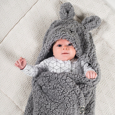 Picture of Jollein® Wrap blanket Bunny Storm Grey 105x100