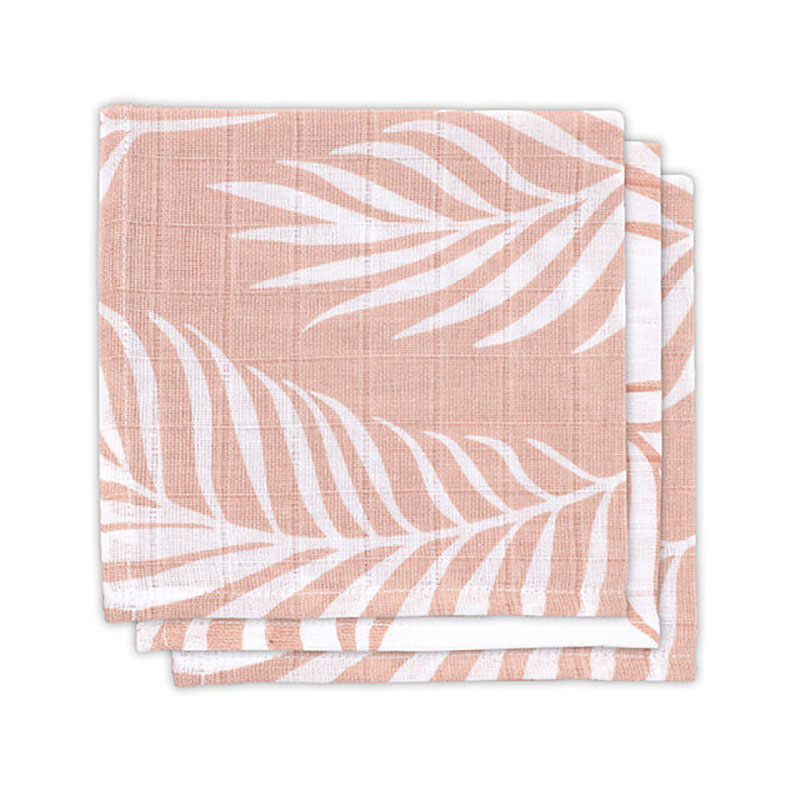 Picture of Jollein® Mouth cloth hydrophilic Nature pale pink (3pack)