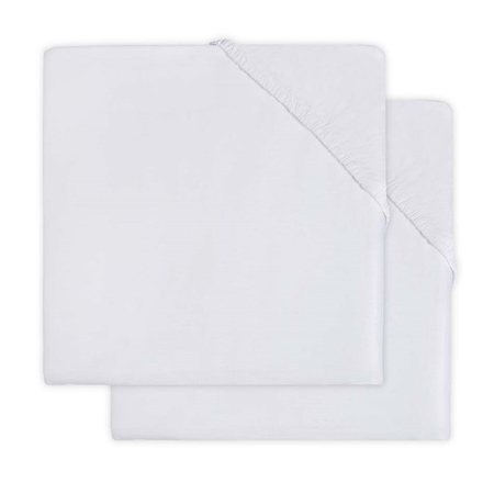Picture of Jollein® Fitted Sheet Jersey White 2pack 120x60