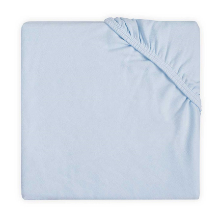 Jollein® Fitted Sheet Double Jersey Soft Blue 120x60