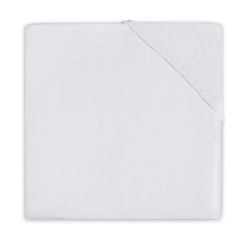 Picture of Jollein® Fitted Sheet Jersey White 140x70/150x75