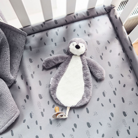 Jollein®  Pacifier cloth Penguin Storm Grey