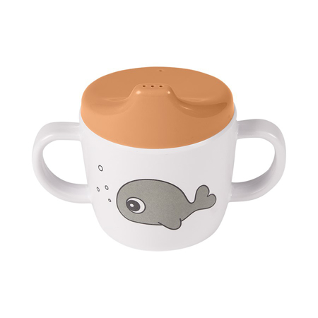 Picture of Done by Deer® 2-handle spout cup Sea friends Mustard/Grey