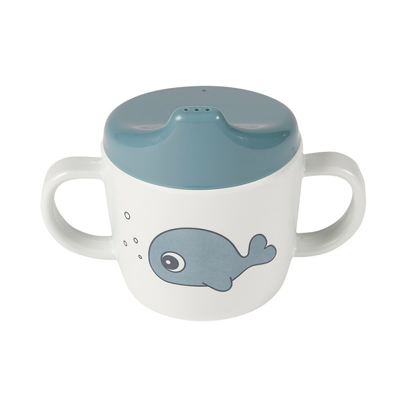 Picture of Done by Deer® 2-handle spout cup Sea friends Blue
