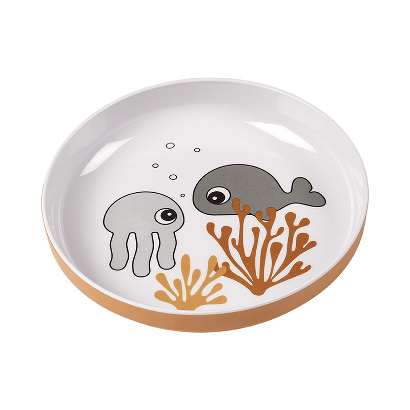 Picture of Done by Deer® Yummy mini plate Sea friends Mustard/Grey