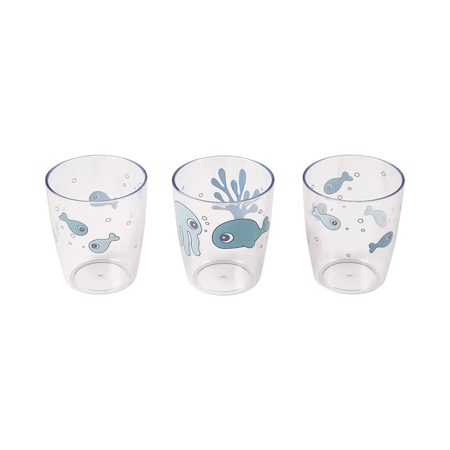 Picture of Done by Deer® Yummy mini glass 3 pcs Sea friends Blue