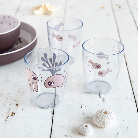 Picture of Done by Deer® Yummy mini glass 3 pcs Sea friends Powder