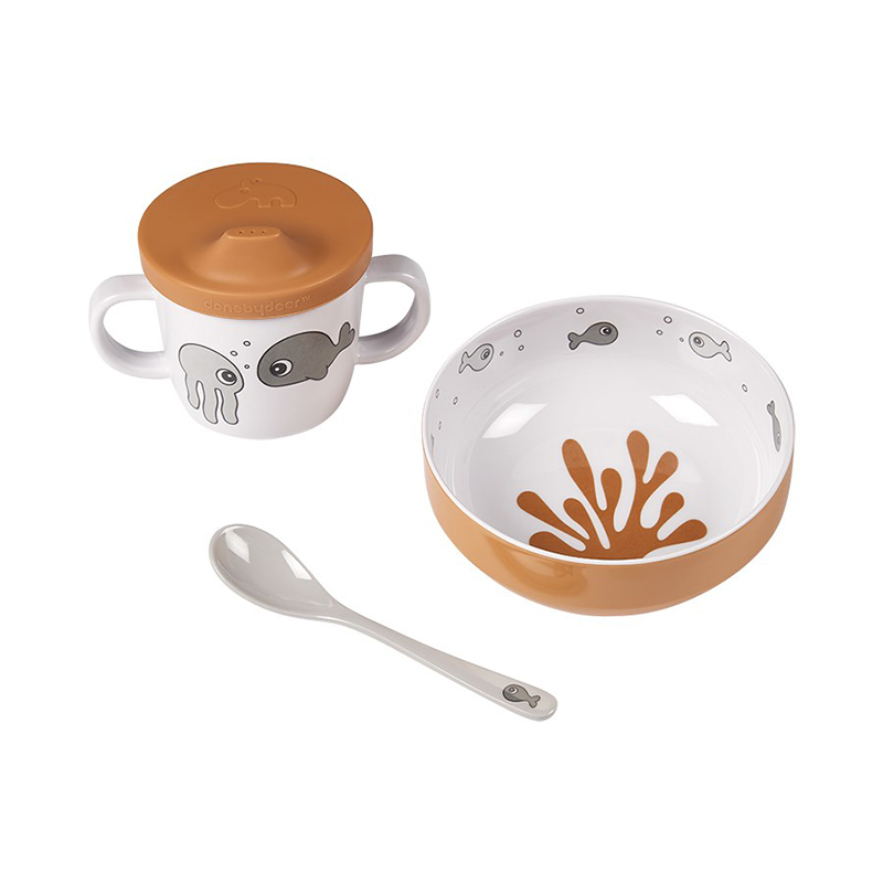 Picture of Done by Deer® First meal set Sea friends Mustard/Grey