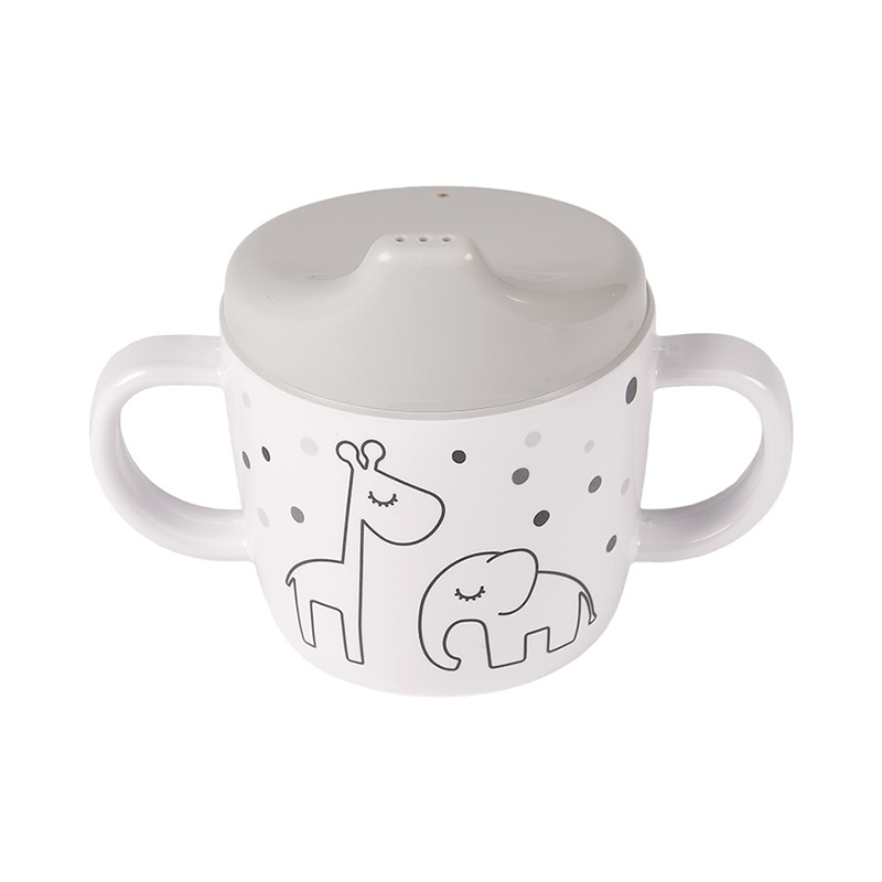 Picture of Done by Deer® 2-handle spout cup Dreamy dots Grey