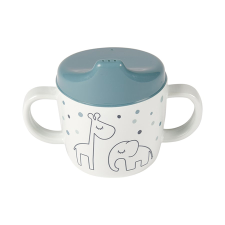 Picture of Done by Deer® 2-handle spout cup Dreamy dots Blue