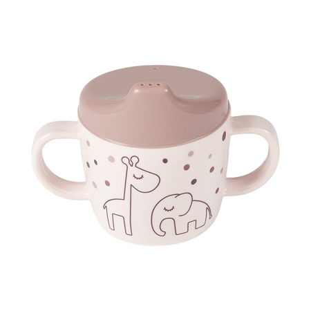 Picture of Done by Deer® 2-handle spout cup Dreamy dots Powder