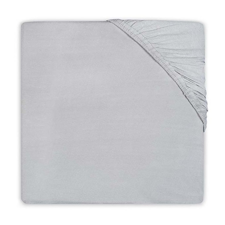 Picture of Jollein® Fitted Sheet Jersey Soft Grey 120x60