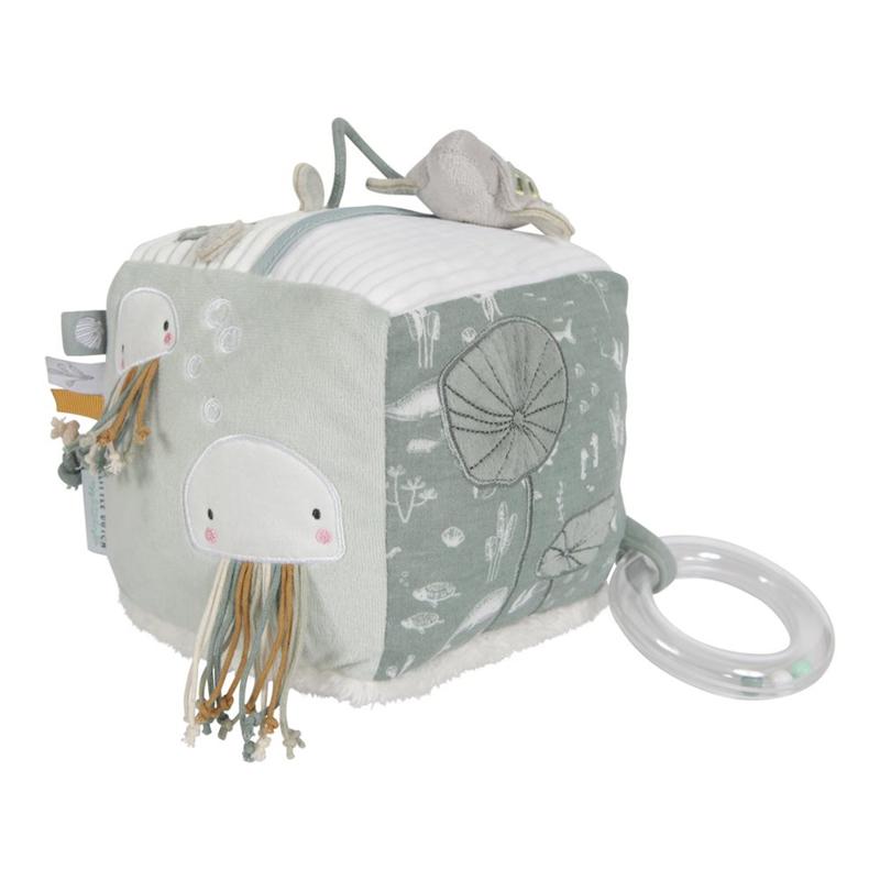 Picture of Little Dutch® Soft activity cube Ocean Mint