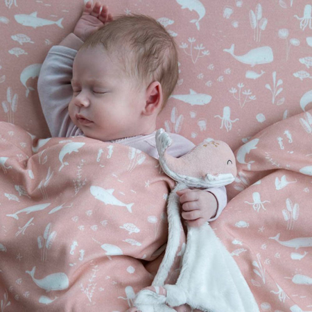Picture of Little Dutch® Cuddle cloth Whale Ocean Pink