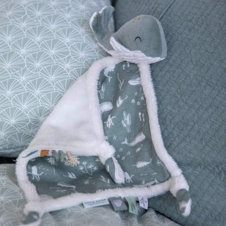 Little Dutch® Cuddle cloth Whale Ocean Mint