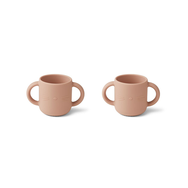 Picture of Liewood® Gene Silicone Cup 2 Pack Cat Rose