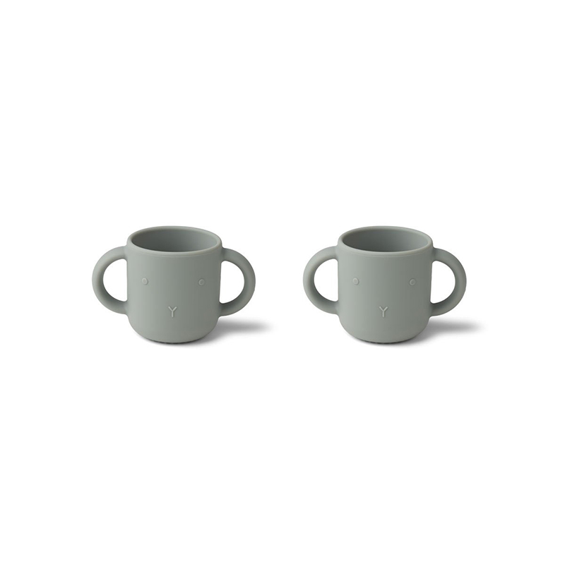 Picture of Liewood® Gene Silicone Cup 2 Pack Rabbit Dove Blue
