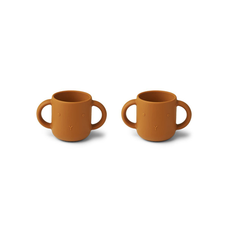 Picture of Liewood® Gene Silicone Cup 2 Pack Rabbit Mustard