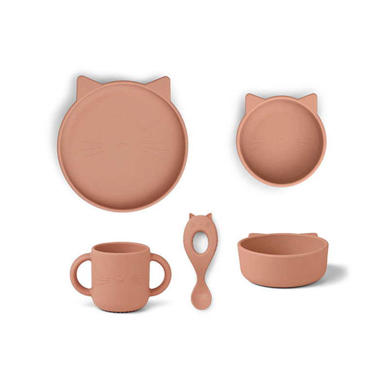 Picture of Liewood® Vivi Silicone Tableware 4 pack Baby Dark Rose