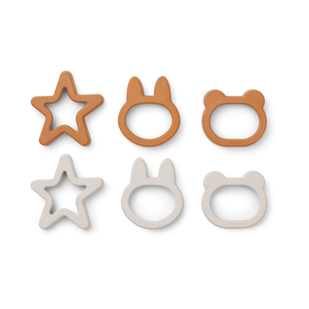 Picture of Liewood® Andy Cookie Cutter 6 Pack Mustard mix