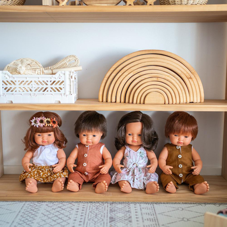 Picture of Miniland® Baby doll Brown Hair Boy 38cm