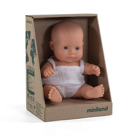 Miniland® Baby Doll Caucasian Girl 21cm
