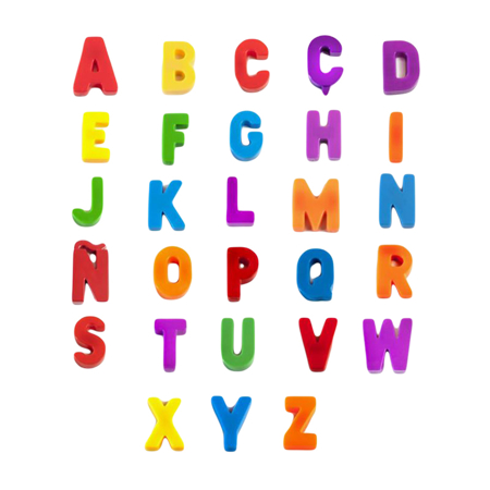 Picture of Miniland® Magnetic Uppercase Letters (76 pieces)