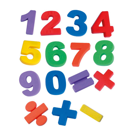 Picture of Miniland® Magnetic Jumbo Numbers (68 pieces)