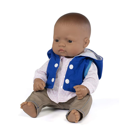 Picture of Miniland®  Baby doll Mild weather Navy set 32cm