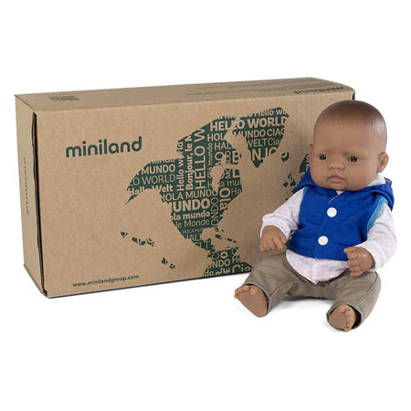 Miniland®  Baby doll Mild weather Navy set 32cm