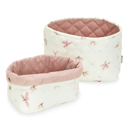 Picture of CamCam® Quilted Storage Baskets Windflower Creme
