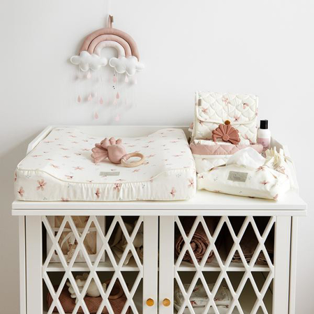 CamCam® Quilted Storage Baskets Windflower Creme