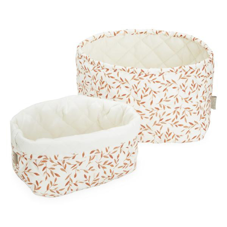 Picture of CamCam® Quilted Storage Baskets Caramel Leaves