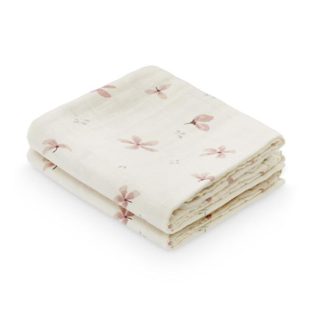 Picture of CamCam® Musling Cloth Windflower Creme 2pack 70x70