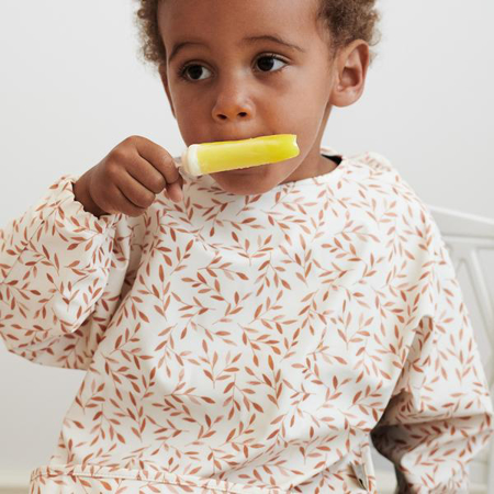 Picture of CamCam® Sleeved Bib Windflower Creme