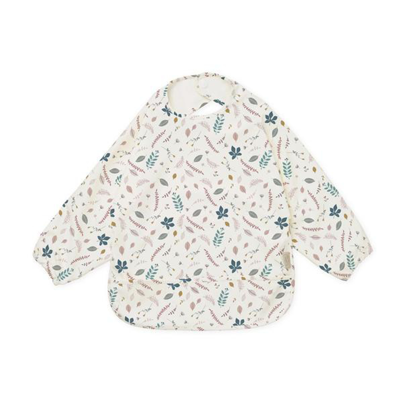 Picture of CamCam® Sleeved Bib Pressed Leaves Rose