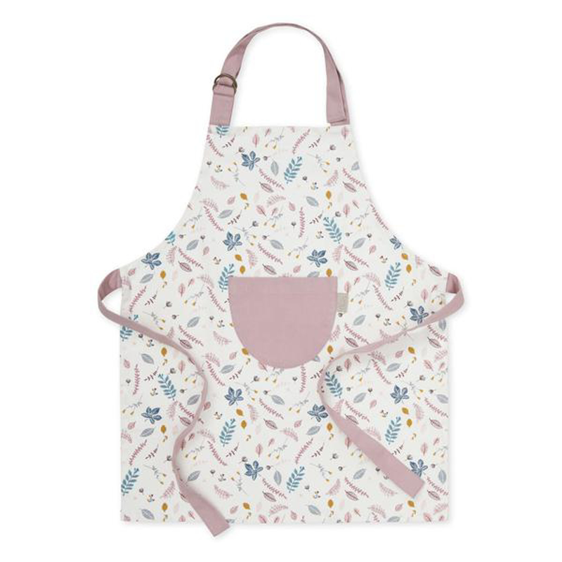 Picture of CamCam® Kids Apron Pressed Leaves Rose