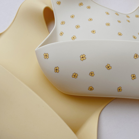 Picture of Konges Sløjd® Baby bib Silicone 2 pack Buttercup/Lemonade