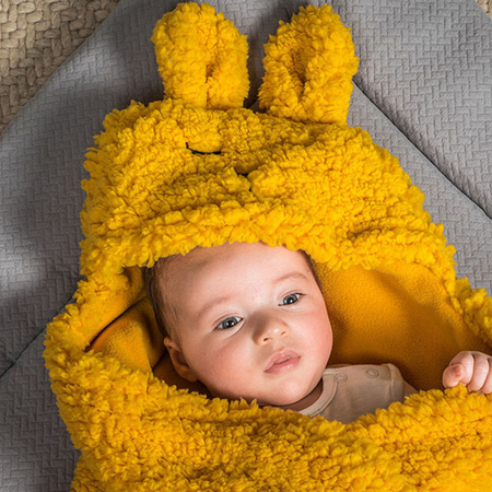 Picture of Jollein® Wrap blanket Bunny Mustard 105x100