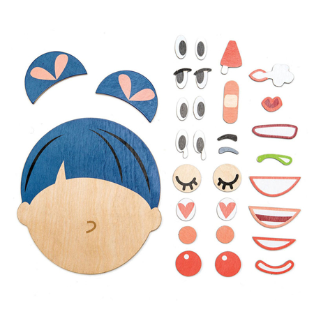 Picture of Tender Leaf Toys® Wooden face What's Up?