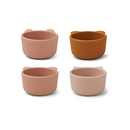Liewood® Malene Silicone Bowl 4 Pack Rose Multi Mix