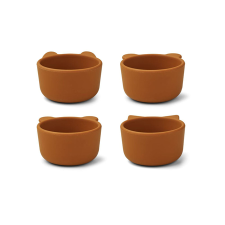 Picture of Liewood® Malene Silicone Bowl 4 Pack Mustard